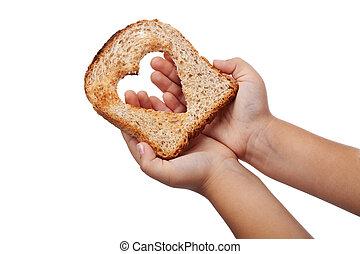 geven, voedingsmiddelen, liefde