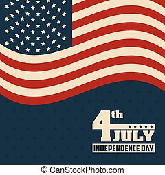 geverenigdene staten markeer, 4 juli, amerika, dag, onafhankelijkheid