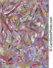 geverfde, abstract, kleurrijke, achtergrond, hand