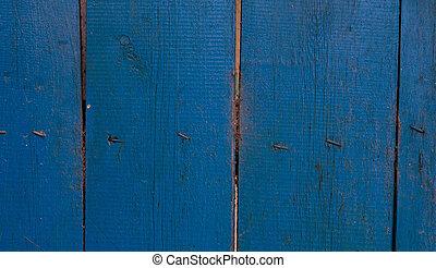 geverfde, blauwe , hout, achtergrond