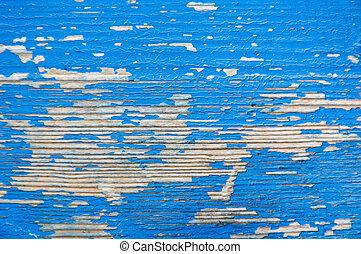 geverfde, blauwe , hout samenstelling