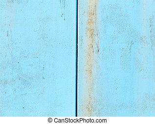 geverfde, blauwe , metaal, achtergrond