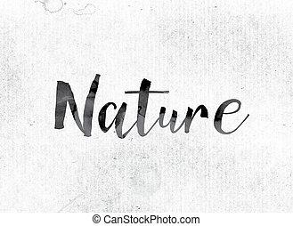 geverfde, concept, natuur, inkt