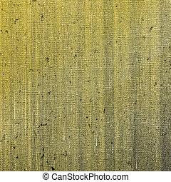 geverfde, doek, gele, textuur, hand