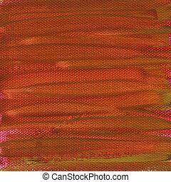 geverfde, doek, rood, textuur