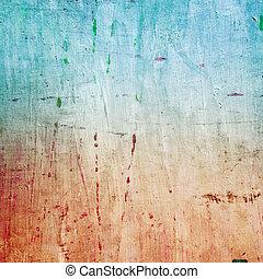 geverfde, doek, textuur