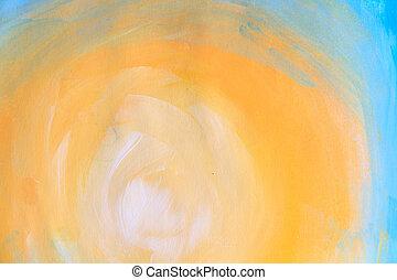 geverfde, gele, textuur