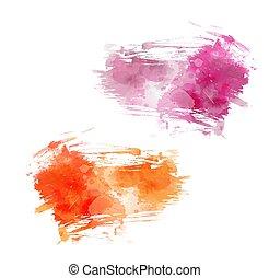 geverfde, grunge, abstract, achtergronden