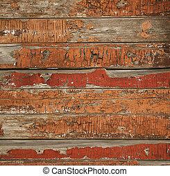 geverfde, hout, oud, textuur