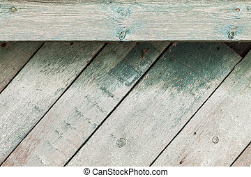 geverfde, houten, oud, grondslagen