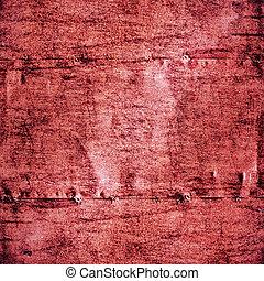 geverfde, karmozijnrood, muur, metaal, textuur