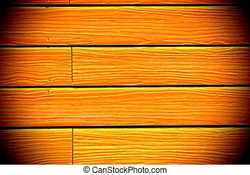 geverfde, nieuw, hout, achtergrond, gele