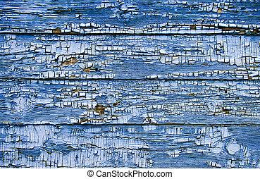 geverfde, oud, hout, -wall, textuur