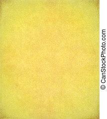 geverfde, papier, gele achtergrond