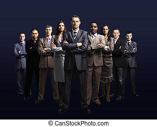 gevormde, team, jonge, zakelijk