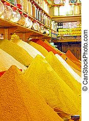 gewürz, lokal, marokko, markt