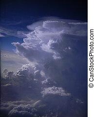 gewaltig, wolkenhimmel, kumulus