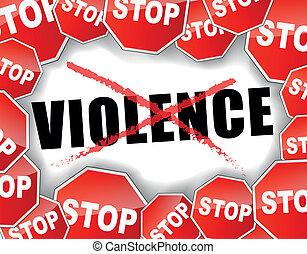 gewalttätigkeit, halt