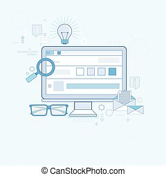 gewebe suche, digital, zufriedene , informationstechnologie, geschaeftswelt