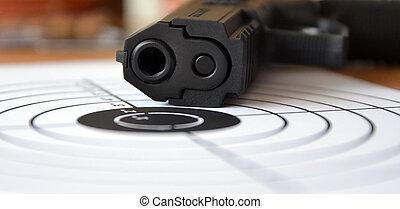 geweer, en, doel