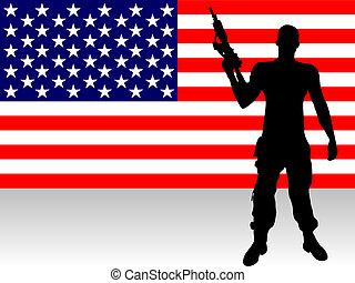geweer, soldaat