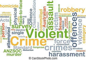 gewelddadig, concept, achtergrond, misdaad