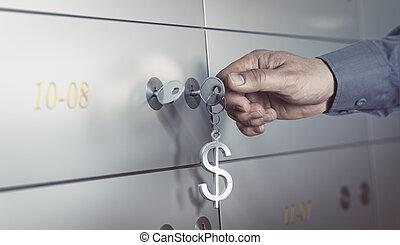 gewelf, safeloket, bank