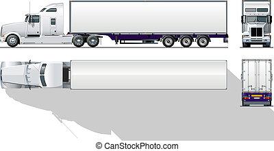 gewerblich, hi-detailed, halb-lastwagen