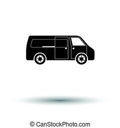 gewerblich, kleintransport, ikone