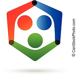 gewerkschaft, logo, gemeinschaftsarbeit