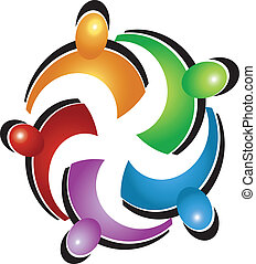 gewerkschaft, logo, vektor, gemeinschaftsarbeit, leute