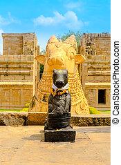 gewidmet, fragment, hindu, shiva, architektur, ancien,...