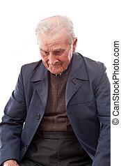 gewillt, älterer mann