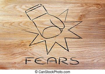 gewinnen, ängste, herausforderung, probleme, dein, überwinden