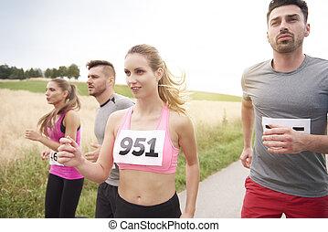 gewinner, marathon, zuerst