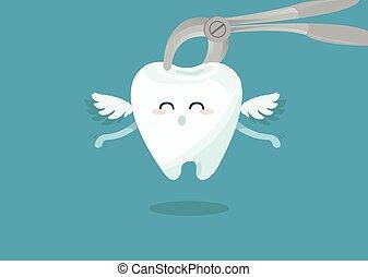 gewinnung, dental, zange, zahn