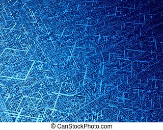 gewirr, diagonal, faser