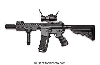 gewoonte, m4a1, aanval, carbine