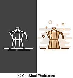 Geyser coffee maker icon