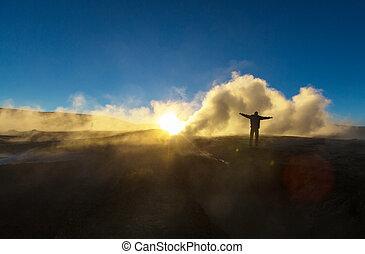 Sol de Manana - Geyser Sol de Manana, Bolivia