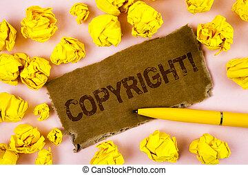 gezegde, foto, intellectueel, papier, auteursrecht, nee, piraterij, pen, schrijvende , geschrijvenene tekst, conceptueel, call., zakelijk, het tonen, motivational, hand, achtergrond, karton, gelul, traan, vlakte, stuk, eigendom