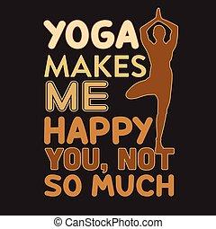 gezegde, goed, yoga, noteren, afdrukken, design.