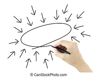 gezeichnet, begriff, mannes, geschaeftswelt, hand