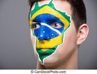 gezicht, art., flags.