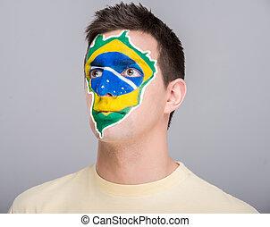 gezicht, flags., art.