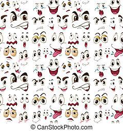 gezicht, uitdrukkingen