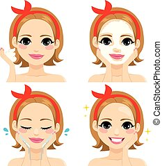 gezichts, beautybehandeling