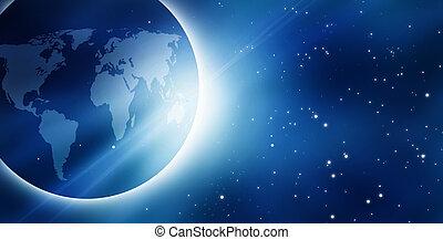 gezien, buitenst, zonopkomst, ruimte