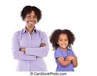gezin, afrikaans-amerikaan