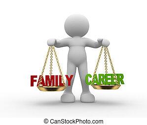 gezin, balance., carrière